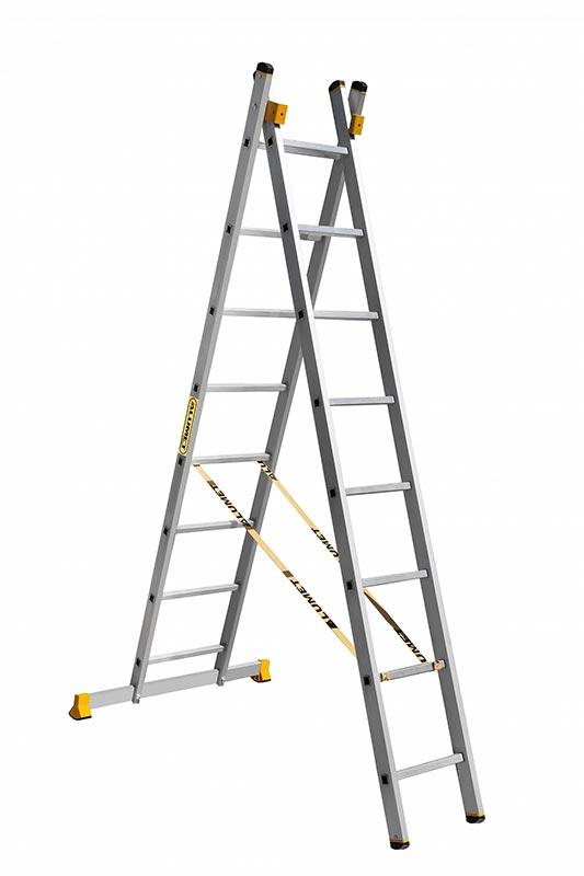 Лестницы двухсекционные  Алюмет серии HS2