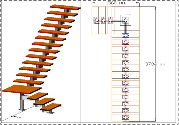 Г-образные лестницы для дома своими руками