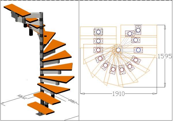 Чертежи винтовой лестница на второй этаж своими руками